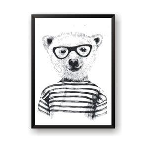 Plagát Nord & Co Hipster Bear, 30 x 40 cm