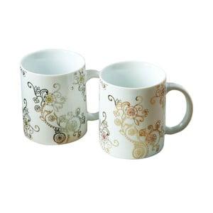 Sada 2 porcelánových hrnčekov s metalickým dekorom Premier Housewares