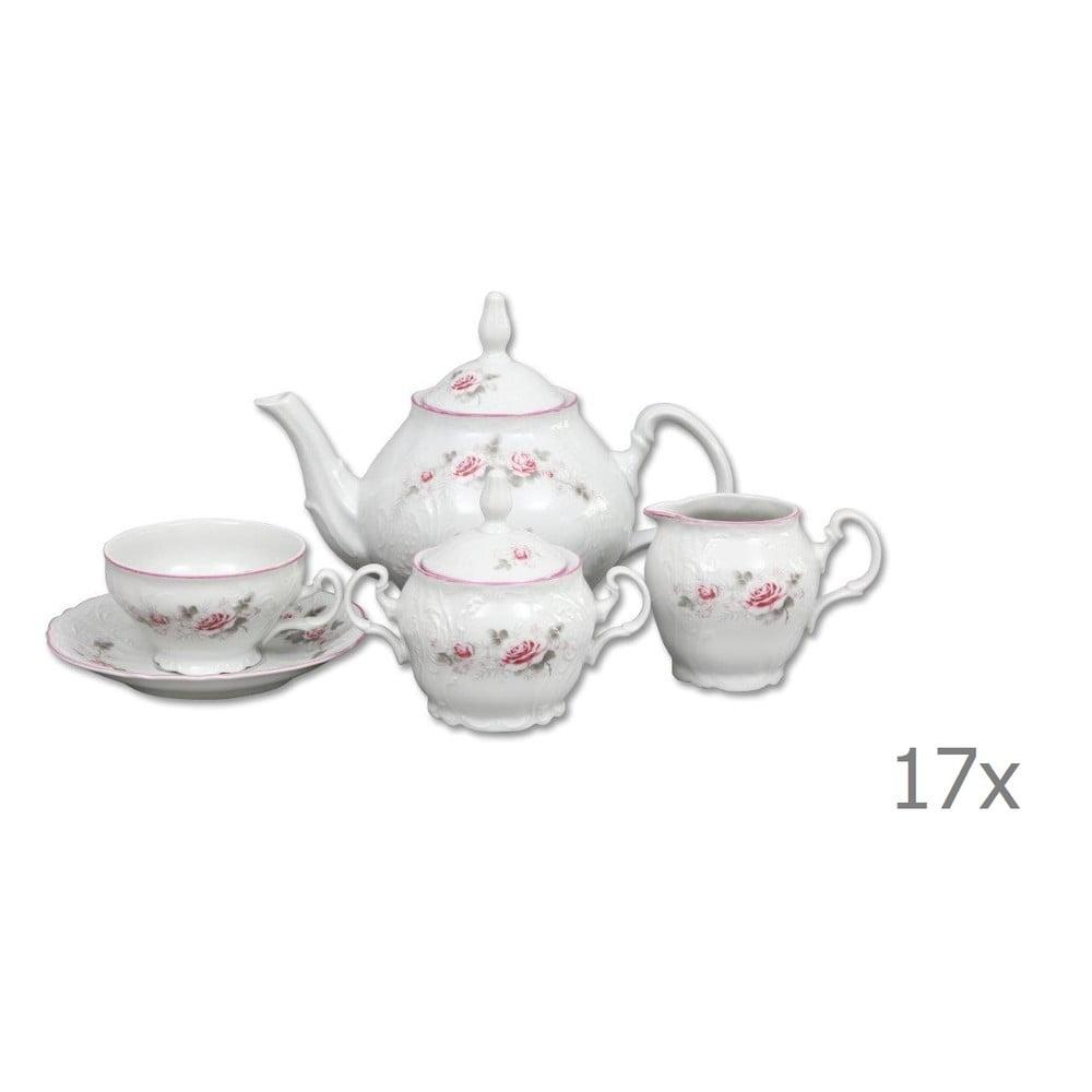 Porcelánová sada na čaj s ružičkami Thun Bernadotte