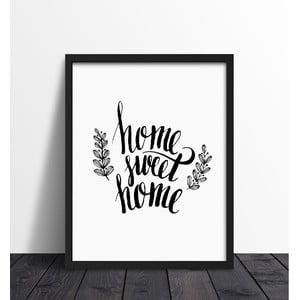 Zarámovaný plagát We Love Home Sweet Home, 30 x 40 cm
