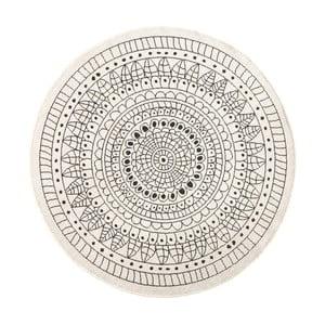 Čierno-krémový obojstranný koberec vhodný aj do exteriéru Bougari Porto, ⌀ 140 cm