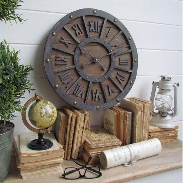 Nástenné hodiny Industrial Wood, 46 cm