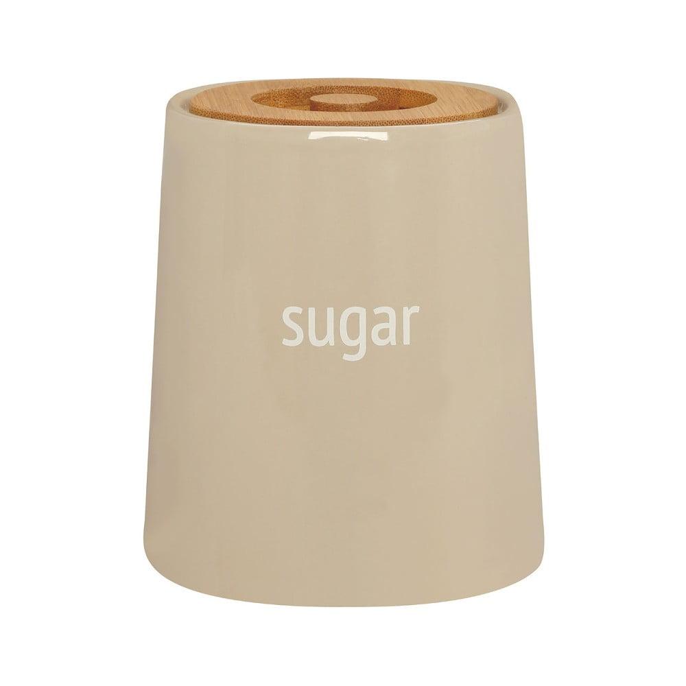 Krémovobiela dóza na cukor s bambusovým vrchnákom Premier Housewares Fletcher, 800 ml