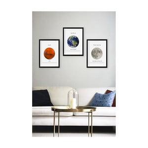 Sada 3 nástenných obrazov Tablo Center Planets
