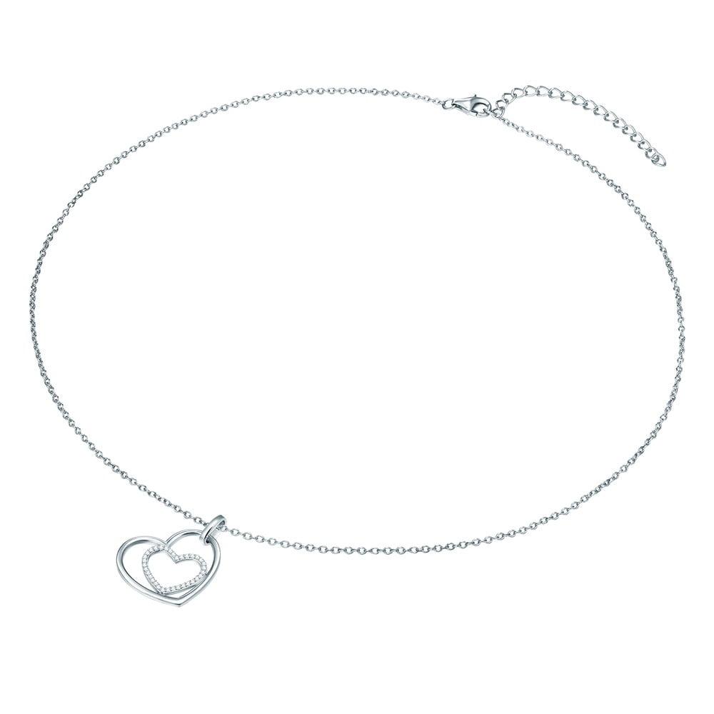 61f5a8724 Dámsky strieborný náhrdelník CARAT 1934 Hearts | Bonami