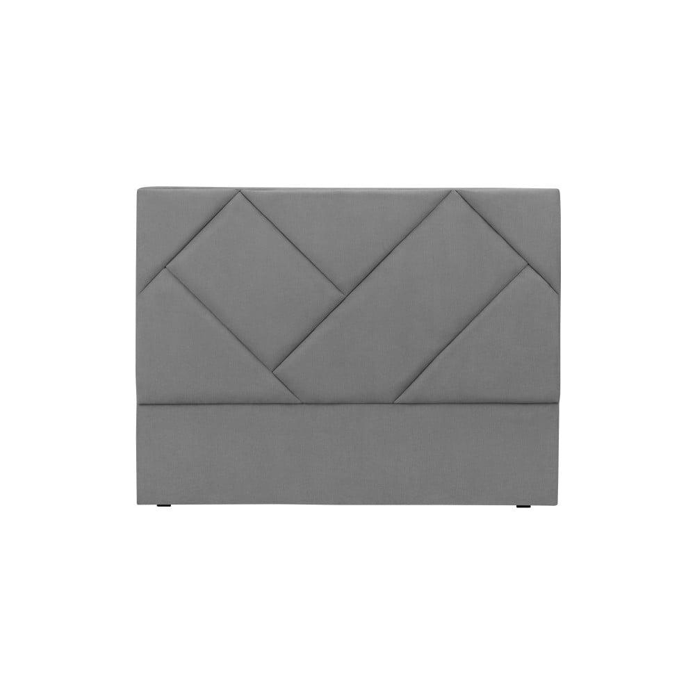 Sivé čelo postele HARPER MAISON Annika, 180 × 120 cm