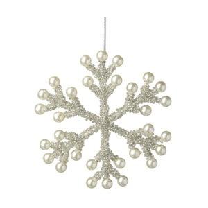 Závesná dekorácia v striebornej farbe Parlane Snowflake