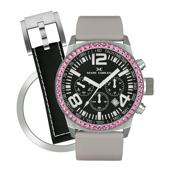 Dámske hodinky Marc Coblen s remienkom a krúžkom na ciferník naviac P108