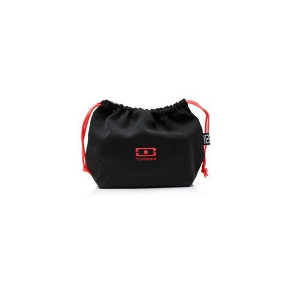 Vrecko na desiatový box Monbento Black/Red