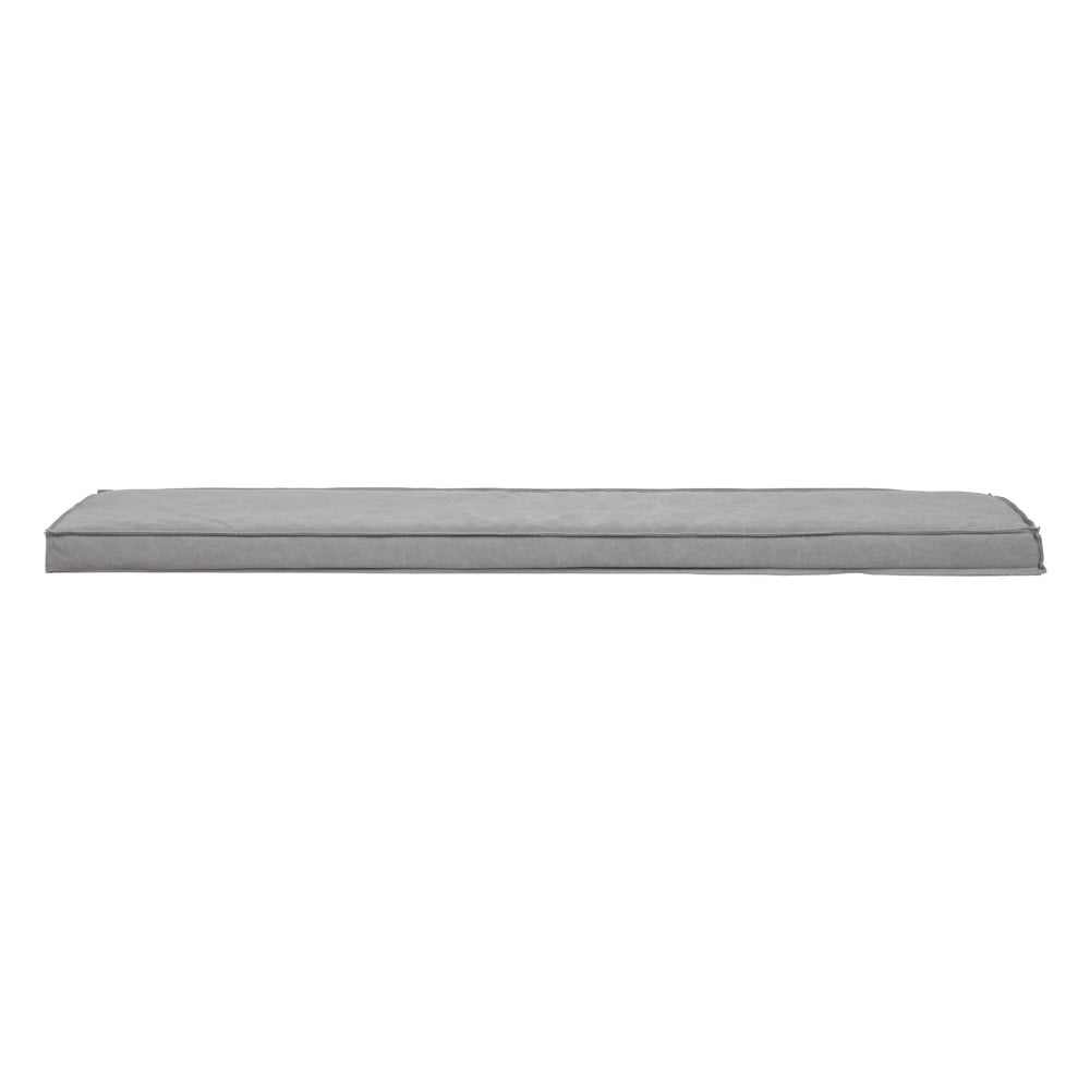 Sivý sedák na lavicu vtwonen Bunk, dĺžka 178 cm