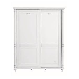 Biela šatníková skriňa Romantic Sliding Wardrobe