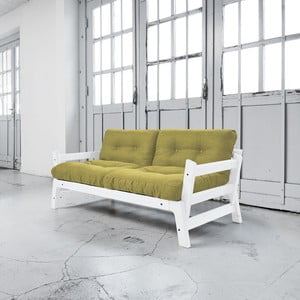 Rozkladacia pohovka Karup Step White/Avocado Green
