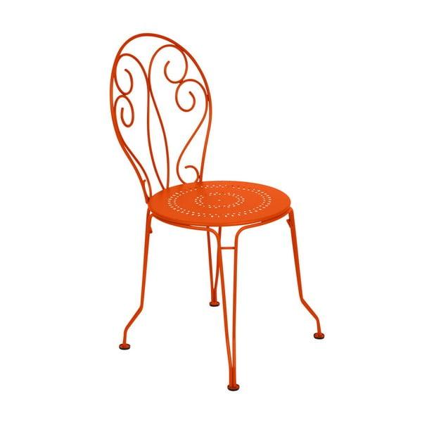 Oranžová kovová stolička Fermob Montmartre
