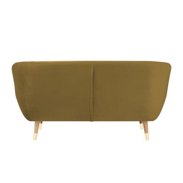 Dvojmiestna pohovka v zlatej farbe Mazzini Sofas Amelie