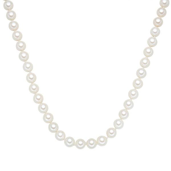 Náhrdelník s bielymi perlami ⌀ 10 mm Perldesse Muschel, dĺžka 50 cm