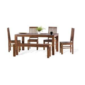 Jedálenský stôl zmasivního palisandrového dreva SOB Margao