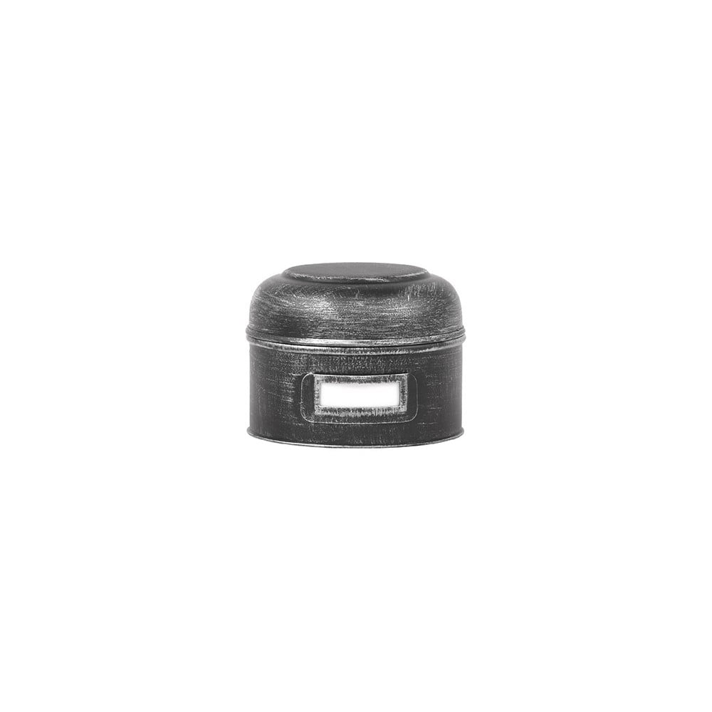 Čierna kovová dóza LABEL51 Antigue, ⌀ 13 cm