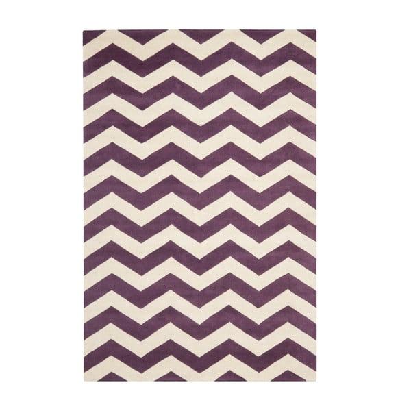 Vlnený koberec Crosby Red, 152x243 cm