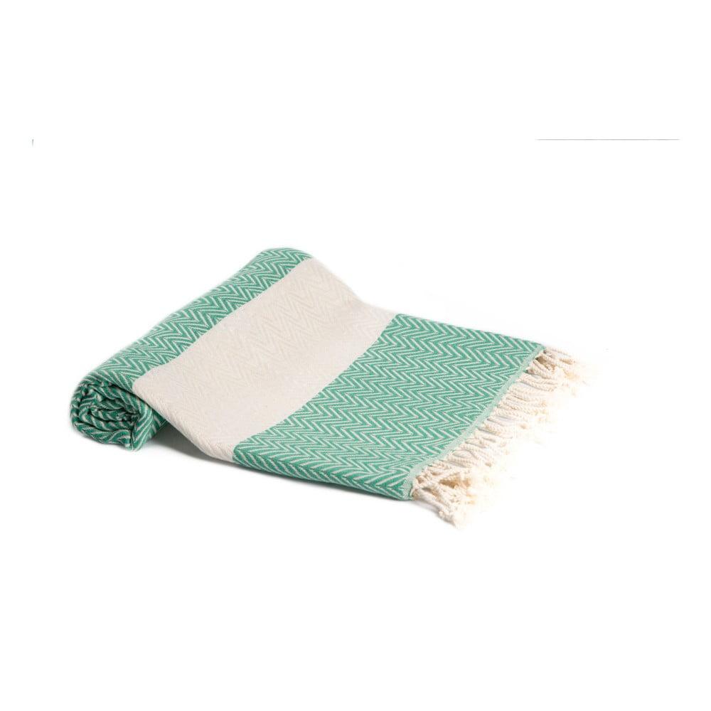 Hammam osuška z ručne tkanej bavlny ZFK Herdis, 180 x 95 cm