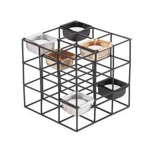 Čierny kovový svietnik PT LIVING Structure Square