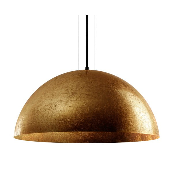 Závesná lampa v zlatej farbe Bulb Attack Cuatro, priemer 60 cm