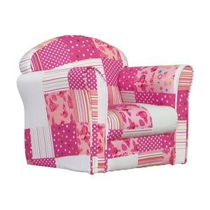 Detské minikreslo Pink Patchwork