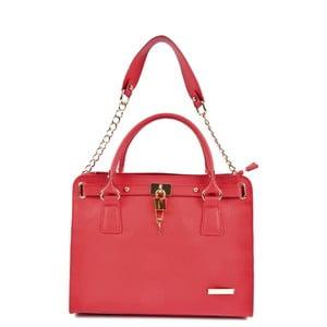 Červená kožená kabelka Roberta M Karima Rosso