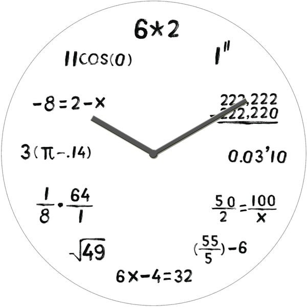 Sklenené hodiny Výpočty, 30 cm