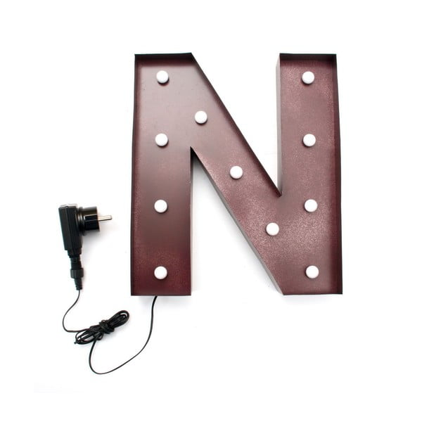 Svetelná LED dekorácia Letter N