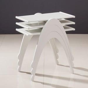 Sada 3 stolíkov Vega Nesting White