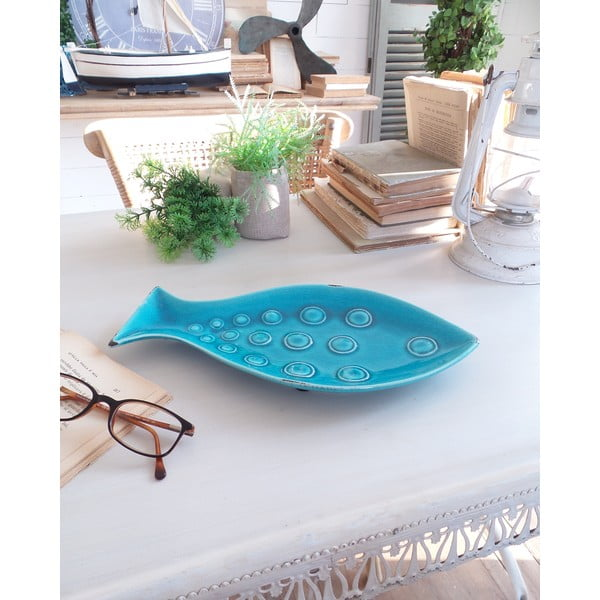 Dekoratívny tanier Turquoise Fish