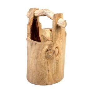 Dekoratívne vedro z teakového dreva Massive Home Bucket, výška44cm