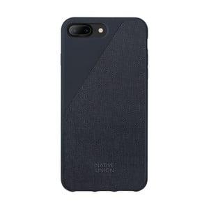 Tmavomodrý obal na mobilný telefón pre iPhone 7 a 8 Plus Native Union Clic Canvas Case