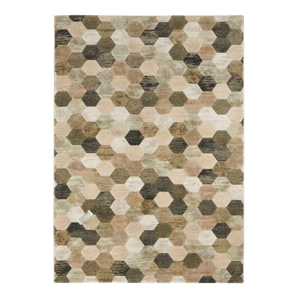 Zeleno-béžový koberec Elle Decor Arty Manosque, 120 × 170 cm