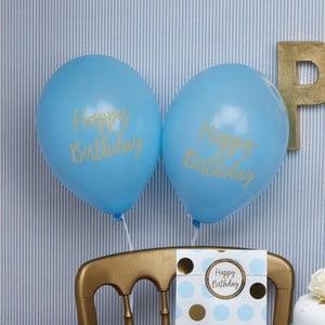Sada 8 modrých balónikov Neviti Pattern Works