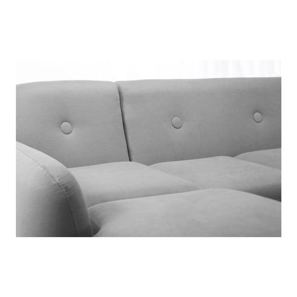 Sivá pohovka Stella s leňoškou na ľavej strane
