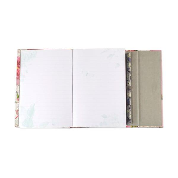 Linajkový vreckový zápisník s ceruzkou Botanique by Portico Designs, 128stránok