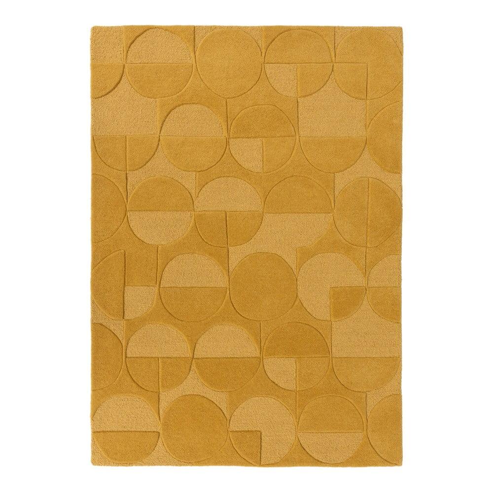 Koňakovohnedý koberec z vlny Flair Rugs Gigi, 120 × 170 cm