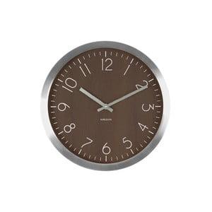 Hnedé hodiny Present Time Wood Charm