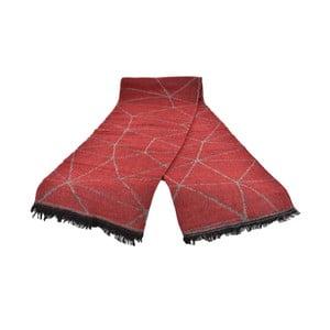Červený dámsky šál s prímesou bavlny Dolce Bonita Sky, 170 × 90 cm