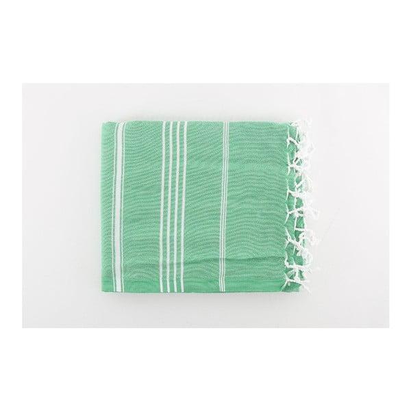 Zelená osuška Hammam Sultan Cagla, 100x180cm