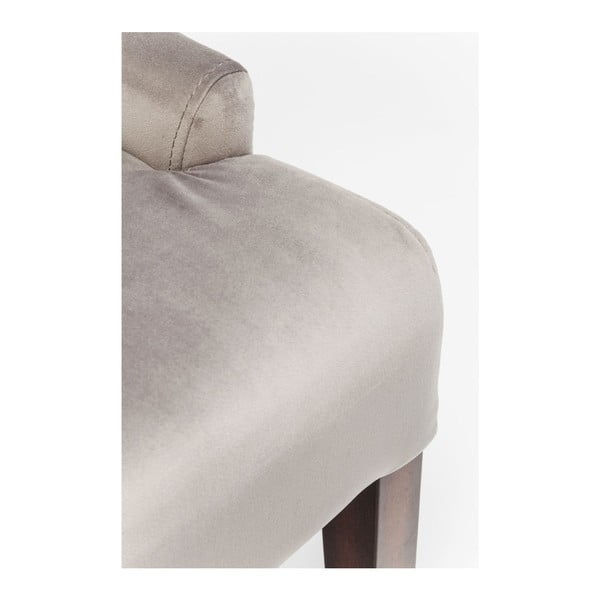 Sivá stolička s opierkami Kare Design Prince Velvet