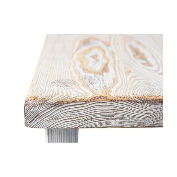 Dřevěná stolička Wooden Stool, bílé dřevo