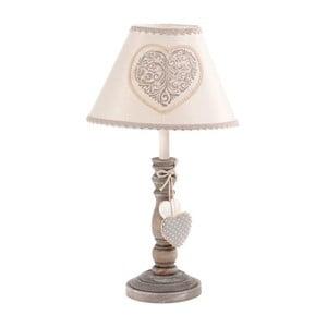 Rustikálna stolová lampa Grey Heart