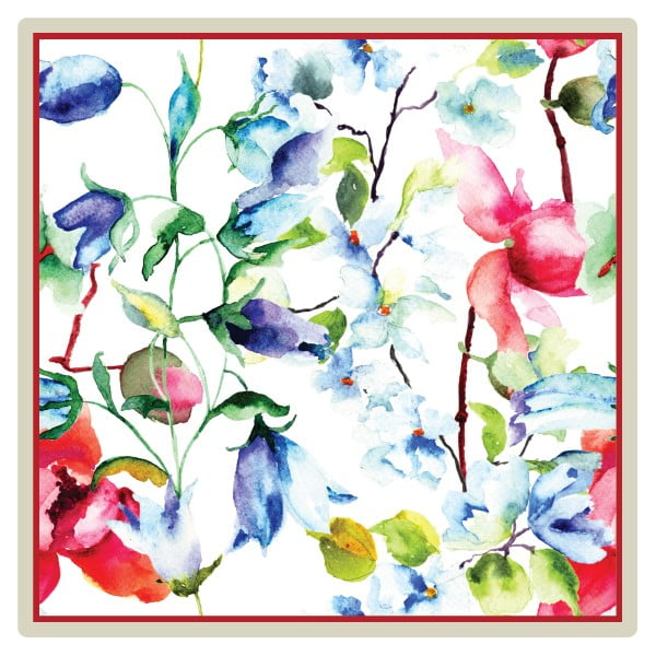 Sada 2 prestieraní Nisha Flowers, 20x20 cm