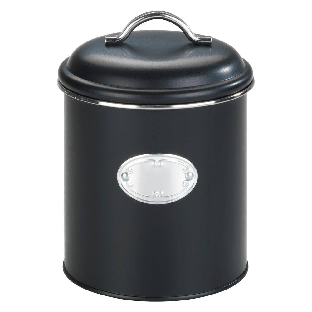 Čierna úložná dóza so vzduchotesným uzatváraním Wenko Nero, objem 1,6 l