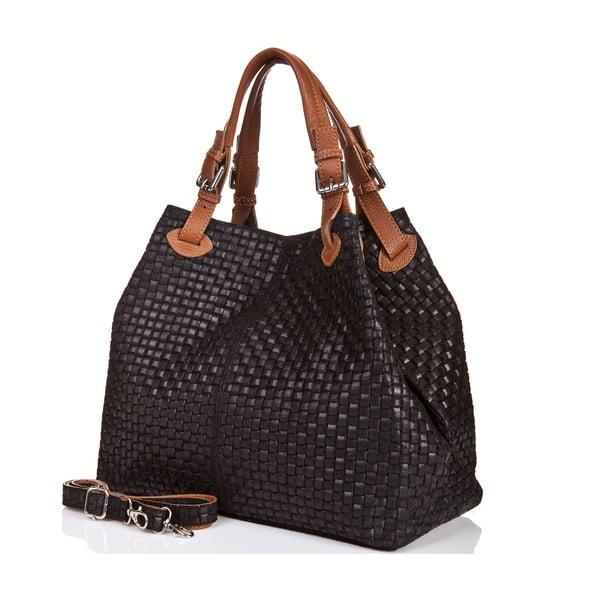 Kožená kabelka Massimo Castelli 9991 Black