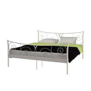 Biela kovová posteľ Støraa Elizabeth, 180 x 200 cm