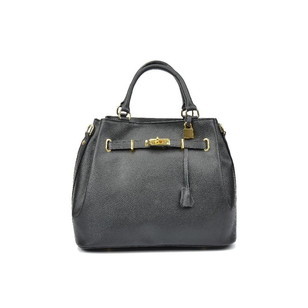 Čierna kožená kabelka Lupe  7d9d87d0dd2