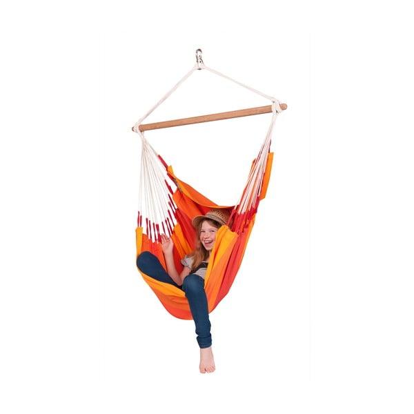 Hojdacie kreslo Orquidea, oranžové
